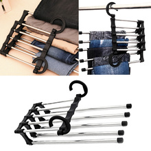 nc foldable closet hangers stainless steel trouser pants hanger for vertical horizontal hanging tie belt clothes space saver