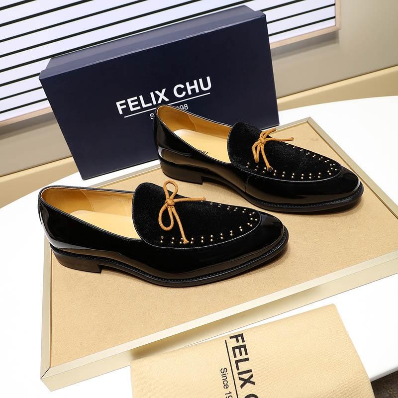 Marca Casamento Sapatas Mocassins Casuais Patente Dos De Sapatos Vestido Confortável Black Veludo Felix Designer Homens red Da Calçados Festa blue Formal Chu 85TqT