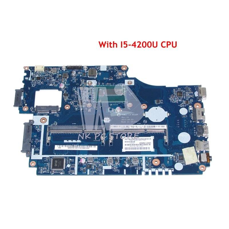 все цены на NOKOTION NBM8E11002 NBMFM11007 For Acer aspire E1-572 E1-572G Laptop Motherboard V5WE2 LA-9532P I5-4200U CPU DDR3L