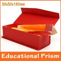 4x4x18 센치메터 물리학 광학 유리 어린이 장난감 삼각형 프리즘 학교 과학 실험 교육 교육 에이즈 어린