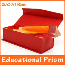 4x4x18cm Physics Optical Glass Children Toy Triangular Prism School Science Experiment Educational Teaching Aids for Children