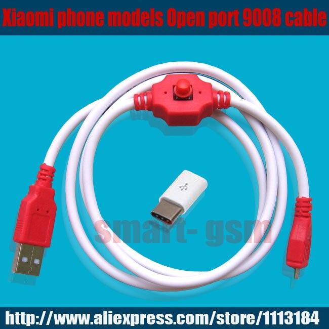 Nuevo deep flash cable para xiaomi modelos de teléfono Open port 9008 soporta todas las cerraduras BL ingeniería con el adaptador libre china agente