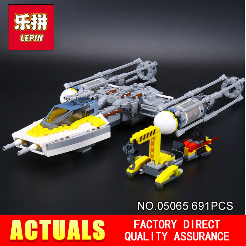 New Lepin 05065 Star 691Pcs gifts Wars Stunning The Y-wing Starfighter Building Blocks Bricks Educational Boy Toys Model 75172 lepin 05040 star wars y wing attack starfighter model building kits blocks brick toys compatiable with lego kid gift set