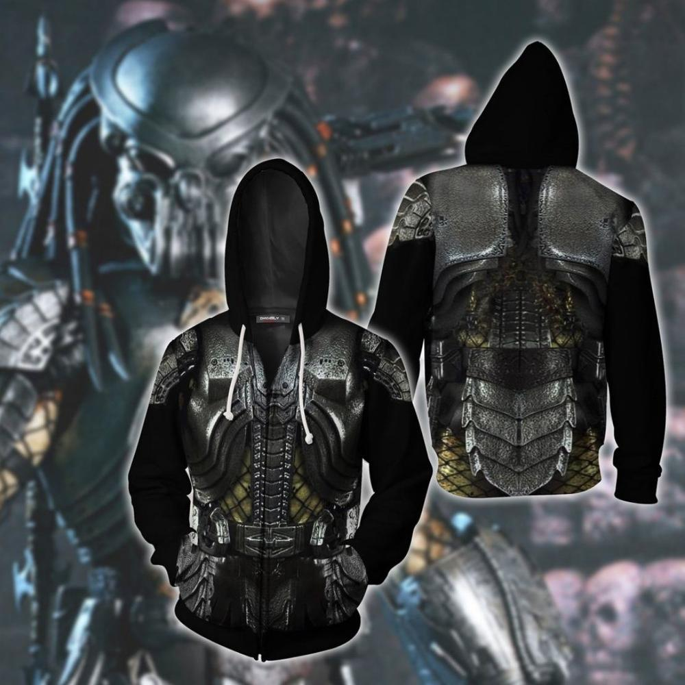 Szblaze Sweatshirt Funny Hat Print Hoodies Predator Pullover Clothing Cosplay 3D The