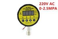 HC-Y810 контроллер электрический контакт 0-2.5MPA цифровой 220VAC интеллектуальный цифровой манометр