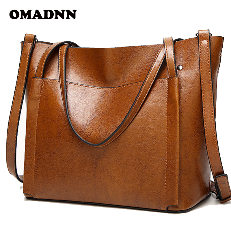 OMADNN Famous Brands Handbags Women PU Leather Bag Large Casual Tote Bags 2018 Sac New Fashion Luxury Messenger Bags bolsas 2017 new fashion female handbags famous brands sac women messenger bags women s pouch bolsas purse bag ladies leather portfolio