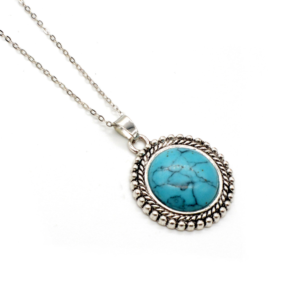 Hot! Circular Suspension Necklace Natural Stone Pendant For Women Fashion Necklace Jewerly Pendant Making Woman Gift