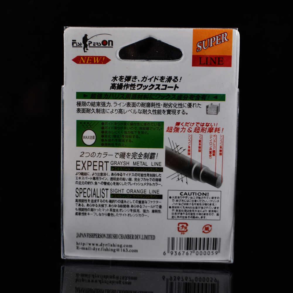 Fish king 1 pc 100 メートルのナイロンラインモノフィラメント品質日本材料 carpjig ため視力オレンジ魚ライン 12-50LB すべて釣り
