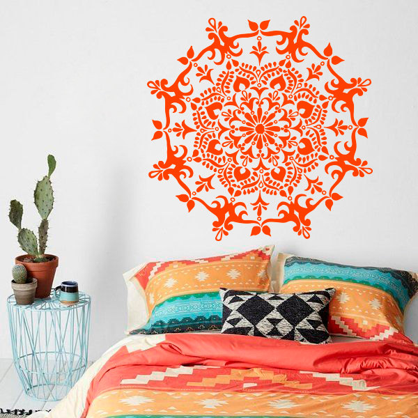 Home Decor Mandala Flower Wall Decal Art Vinyl Yoga