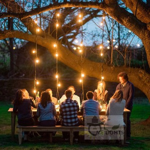 Image 5 - Waterproof Heavy Duty 15M Outdoor Edison Bulb String lights Connectable Festoon for Party Garden Christmas Holiday Garland Cafe
