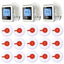 Tivdio ресторан пейджер Услуги Системы Беспроводной вызова официанта подкачки Системы 3 часы приемник + 15 кнопки вызова передатчик F3288
