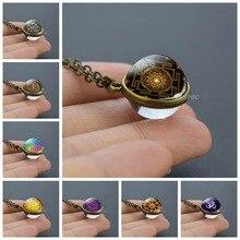 Sri Yantra Mandala Glass Ball Pendant Necklace, Buddhist Sacred Geometry Jewelry, Spiritual Yoga Jewelry Gift, Mens Necklace