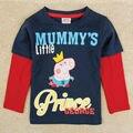 Ropa de marca de moda t shirt primavera otoño camisetas de manga larga para niños niño enfant
