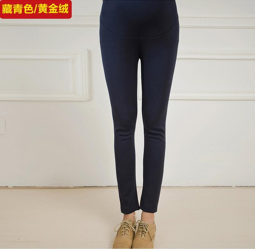 Women Clothing Leggings High Waist Leggings Maternity Clothes Winter Leggings Thickened Pregnant Women Trousers Warm Pants 2016 34