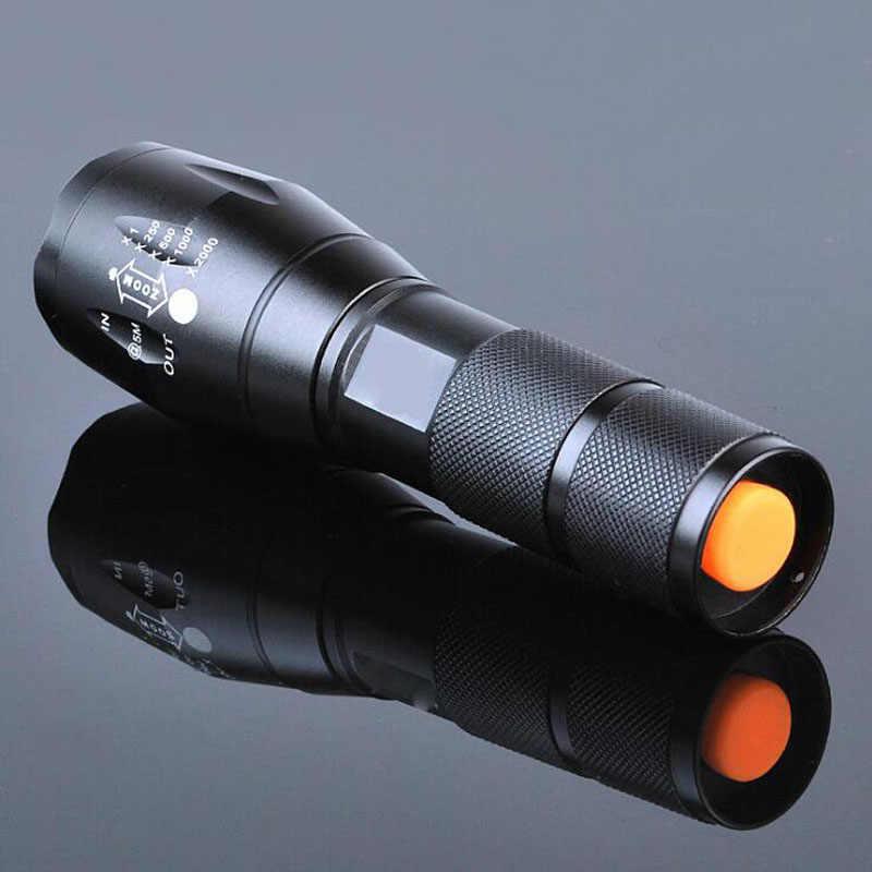 LED Senter Isi Ulang Tahan Air XML T6 Linterna LED Torch 4000 Lumens 18650 Baterai Outdoor Camping Senter Terang