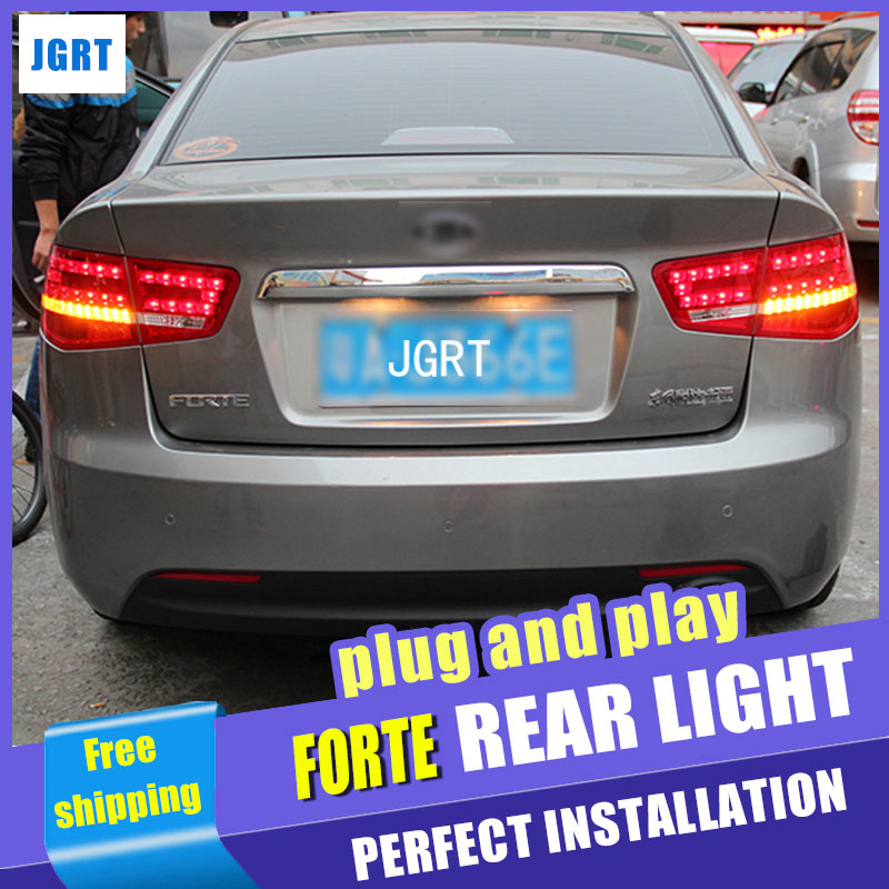 Car Styling for Kia Forte Taillight assembly 2010-2013 Forte LED Tail Light Cerato LED Rear Lamp DRL+Brake with hid kit 2pcs. car styling for mazda cx 5 taillight assembly 2011 2015 cx5 led tail light new cx 5 led rear lamp drl brake with hid kit 2pcs