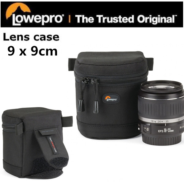 Free Shipping New Lowepro Lens Case 9 x 9 cm Bag For Standard Zoom Lens Black  ...