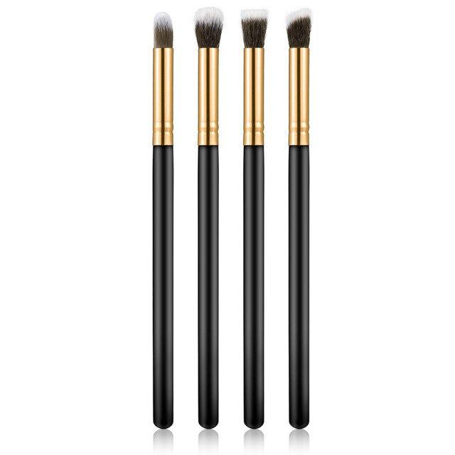 4 pçs/set pincéis de Maquiagem Profissional Eye brushes set Fundação sombra Mascara Blending Pencil escova maquiagem ferramenta Cosmética