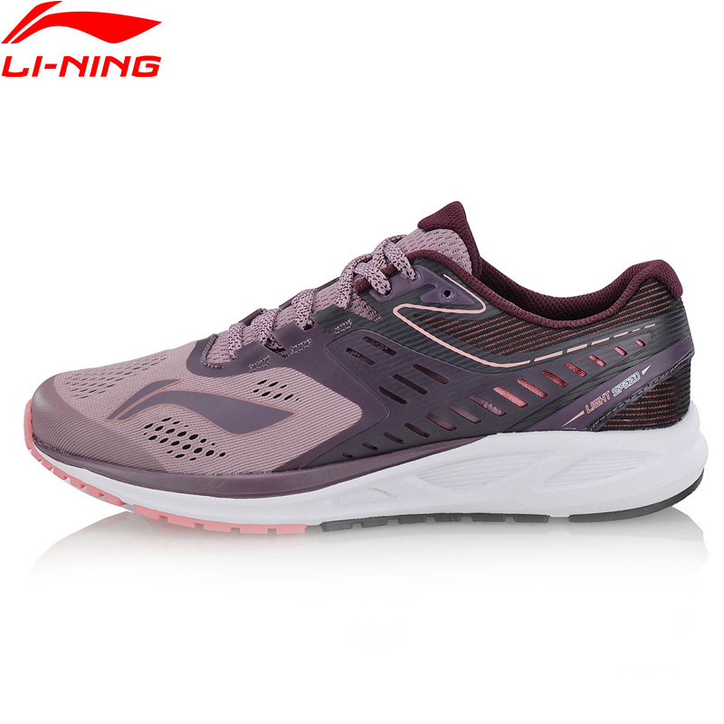 Li-Ning Women's FLASH Running Shoes Anti-Slippery Breathable LiNing Comfort Cushion Sneakers Wearable Sport Shoe ARHN022 XYP676 li ning professional badminton shoe for women cushion breathable anti slippery lining shock absorption athletic sneakers ayal024