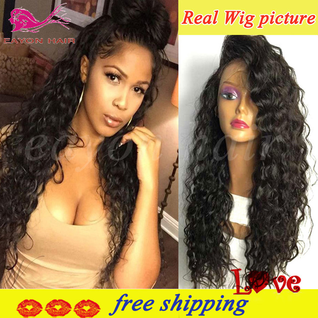 Cheap Lace Front Synthetic Wigs With Baby Hair Afro Synthetic Curly Wigs Long Curly Synthetic Lace Front Wigs For Black Women