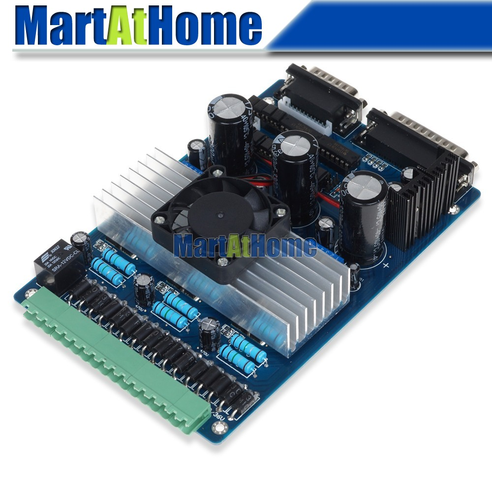 Cnc Router 3 Axis Stepper Motor Driver Board Tb6560 3 5a Support Mach3 Kcam4 Emc2 Sm394 Sd