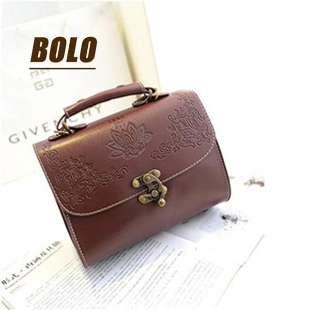 63118acc21 2018 Hot new fashion bag ladies handbag retro patterns carved woman handbag  high quality PU leather shoulder handbags