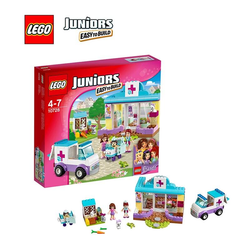 ФОТО LEGO Juniors Mia's Vet Clinic Architecture Building Blocks Model Kit Plate Educational Toys For Children LEGC10728