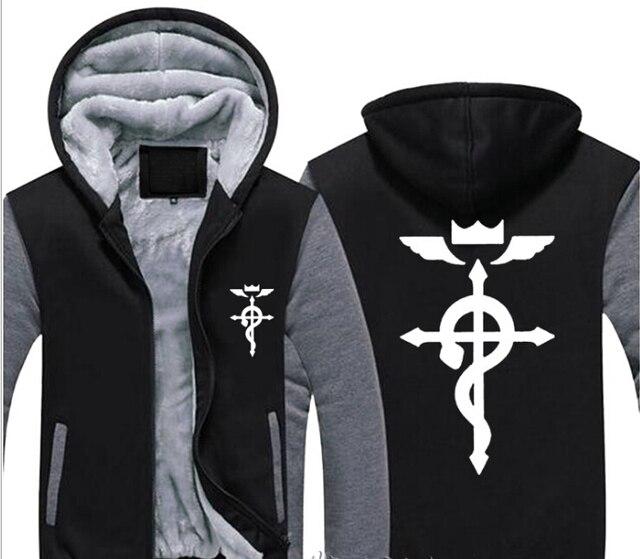 Fullmetal Alchemist Cosplay Coat Zipper Hoodie Sweatshirt