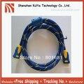 Позолоченные футов 1.5 м кабель hdmi 1.4 с нейлоновой сетки & dual ферритовые сердечники кабель hdmi 1080 P поддерживает 3D & blue ray уже
