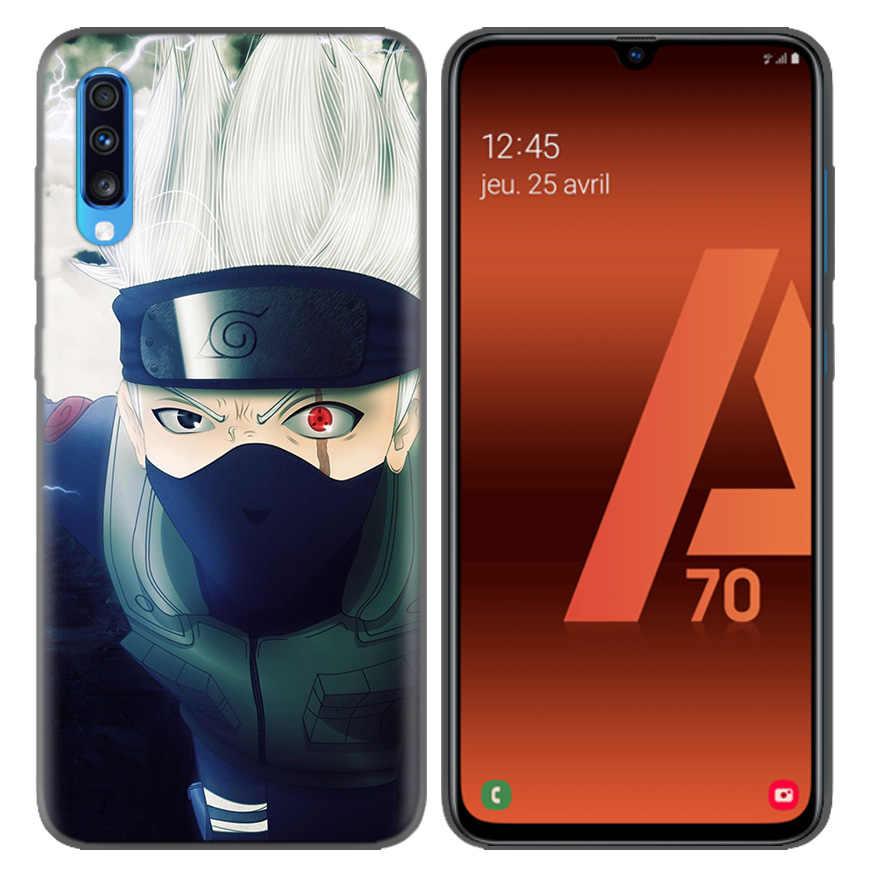 Naruto Kakashi Anime Desen silikon kılıf Coque Samsung Galaxy A10 A20 A30 A40 A50 A60 A70 A80 A20e A6 A8 a7 A9 Artı 2018