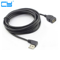 High Quality 10ft 3M USB 2 0 90 Degree Right Elbow A Male To Usb2 0