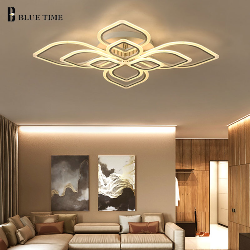 Acrylic Rings Modern LED Chandelier For Large Living room Bedroom Dining room Lustres Ceiling Chandelier Lighting Home Fixtures modern crystal chandelier hanging lighting birdcage chandeliers light for living room bedroom dining room restaurant decoration