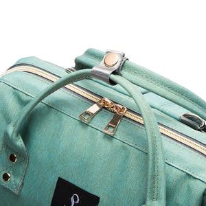 Image 5 - Fashion Maternity Nappy Bag With USB Interface Large Capacity Waterproof Diaper Bag Kits Backpack Maternity Nursing Baby Bag