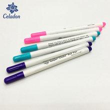 Novo 1-4 pçs marcadores de ponto solúvel ponto cruz canetas apagáveis de água grommet tinta tecido marcação canetas diy costura ferramentas