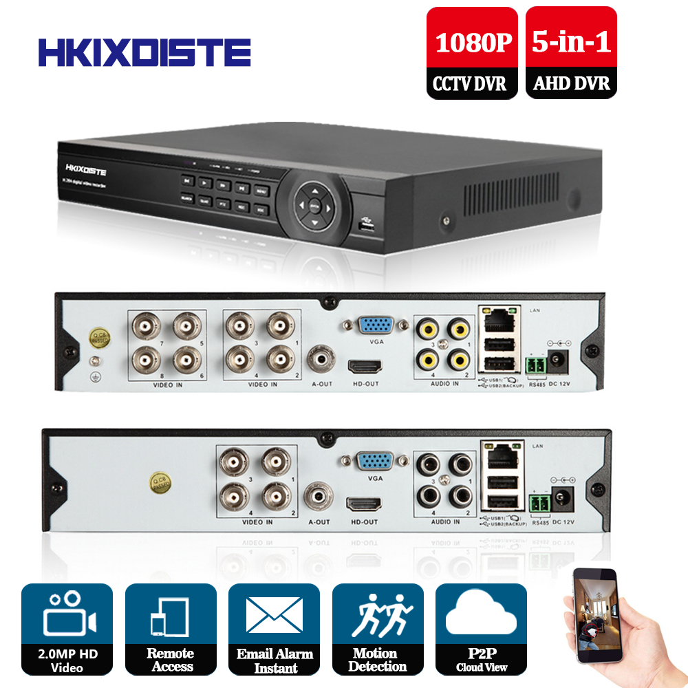 CCTV DVR 8CH 3 in1 AHD DVR NVR 1080P HDMI Video Output Support Analog  IP Camera