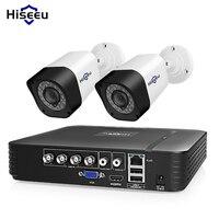 Hiseeu 4CH CCTV камера системы 2 шт. 1.0MP 2MP Водонепроницаемая наружная домашняя камера безопасности AHD расширяемый комплект видеонаблюдения Ночной