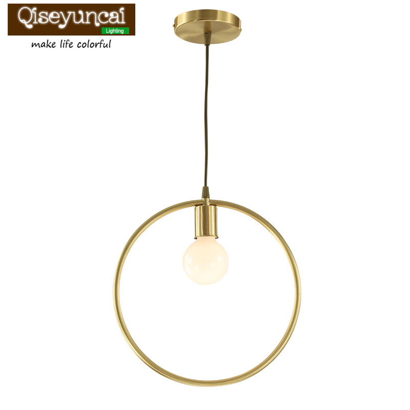 Qiseyuncai 2018 American Copper Restaurant Chandelier Simple Cafe Bar Table Staircase Bedroom Creative Personality Lighting холодильник pozis rs 416 белый