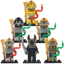 The Mummy Figure Anubis Egyptian legend Series Single Sale Building Blocks Set Model Bricks Toys for kids KL044-049