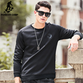 Pioneer Camp 2017 new black sweatshirts men brand clothing top quality men hoodies fashion casual solid cool soft hoodies 699064