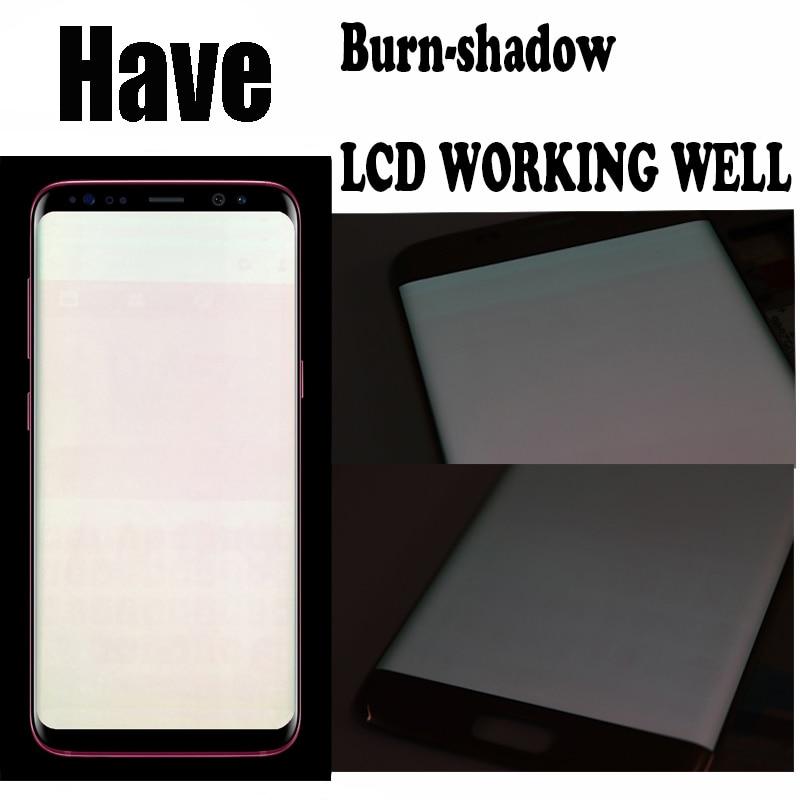 Original Burn-Shadow Replacment For Samsung Galaxy S8 G950F G950U LCD S8 Plus G955 G955F Display Screen Touch Digitizer Assembly