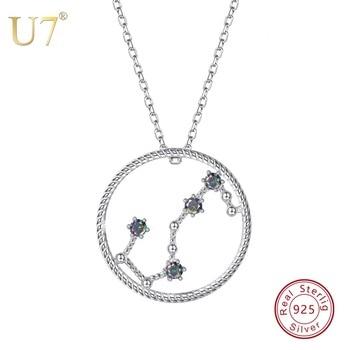 6bdda4bace0b U7 925 Scorpio Zodiac collares y colgantes constelación joyería accesorios  para hombres mujeres Regalo de Cumpleaños SC78