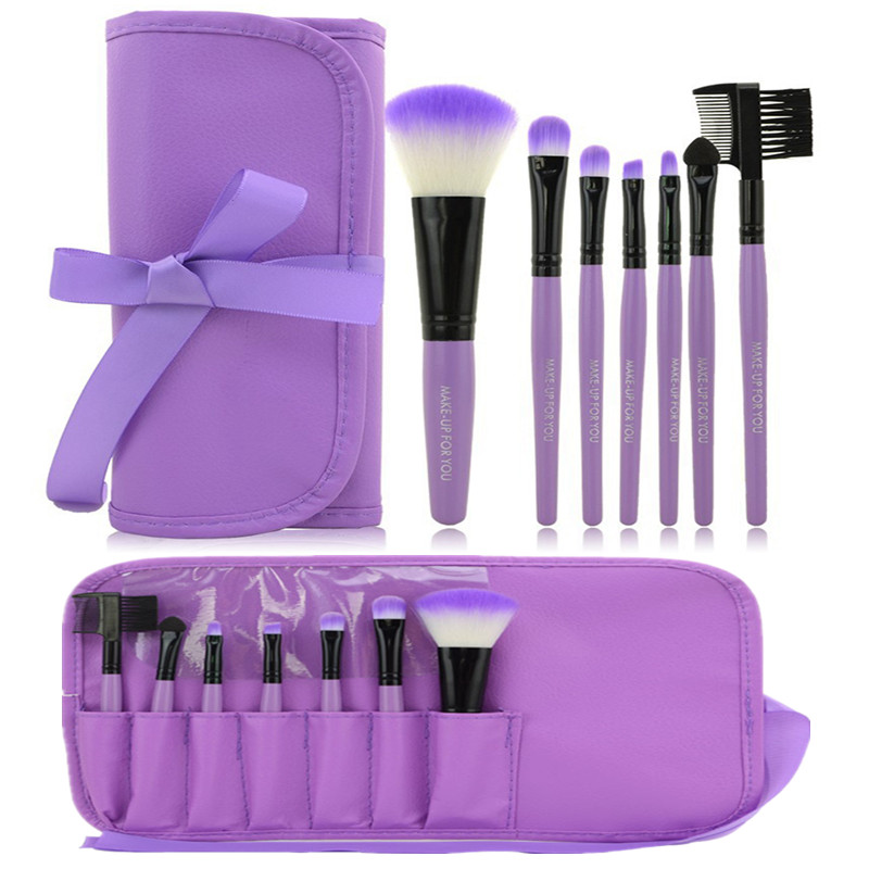 Hot 7pcs Kit Makeup Brushes Professional Set Cosmetic Lip Blush Foundation Eyeshadow Brush Face Make Up Tool Beauty Essentials 5 pcs blue hot high quality professional makeup brush set makeup kit for face care free ship