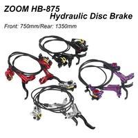 ZOOM HB-875 MTB Bisiklet Hidrolik disk fren Seti Dağ Bisikletleri Yol Bisiklet disk fren Rotorlar Ile Daha iyi M395 M447