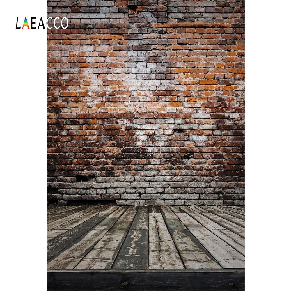 Laeacco grunge ladrillo pared piso de madera bebé recién nacido - Cámara y foto