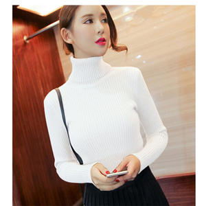 2018 new Women Turtleneck Winter Sweater Women Long Sleeve Knitted Women Sweaters And Pullovers Female dress  hot sale