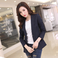 New Autumn Korean Style Women S Small Suits Short Length Of Self Cultivation One Button Long
