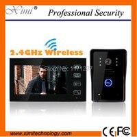 Livraison gratuite sans fil vidéo porte téléphone interphone vidéo avec écran tactile une caméra et un moniteur