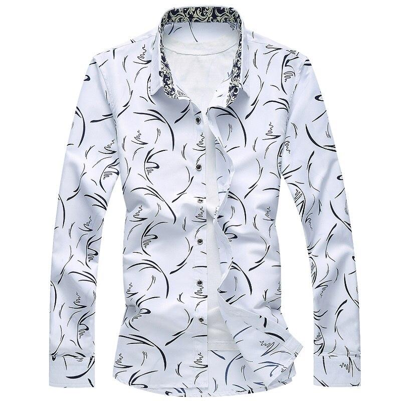 Herrenbekleidung & Zubehör Begeistert Floral Shirt Männer 2019 Frühling Cooles Design Taste Langarm Casual Shirts Männlichen Plus Größe M-6xl