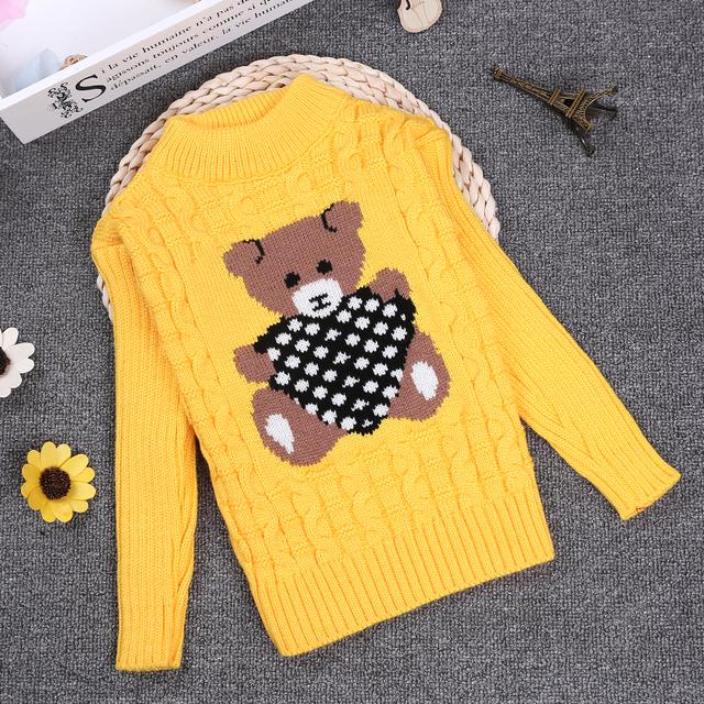 Primavera Invierno 2 3 4 6 8 10Y O-cuello Suéter de Punto Suéter de Los Niños Niños de la Manga Completa Niñas/Niños Pullover KC-1547-11