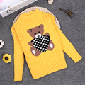 Spring Winter 2 3 4 6 8 10Y O-neck Knitted Sweater Children Sweater Full Sleeve Children Girls/Boys Pullover KC-1547-11